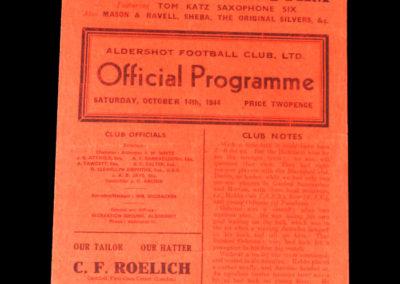 Aldershot v Brighton 14.10.1944