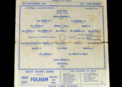 Chelsea v Arsenal 25.11.1944