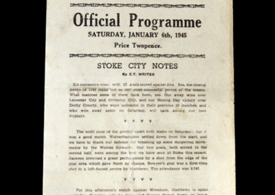 Stoke v Wrexham 06.01.1945