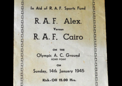 RAF Alex v RAF Cairo 14.01.1945