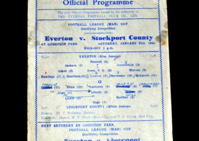 Everton v Stockport 27.01.1945