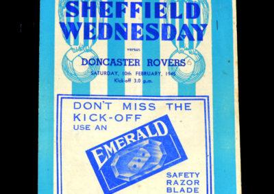 Sheff Wed v Doncaster 10.02.1945