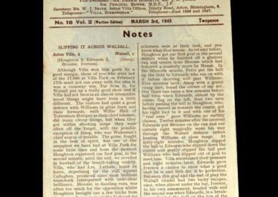 Aston Villa Northampton 03.03.1945