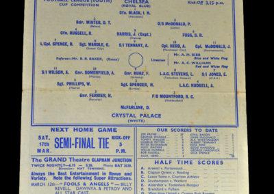 Chelsea v Crystal Palace 10.03.1945