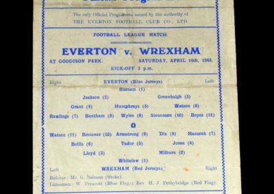 Everton v Wrexham 14.04.1945