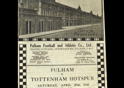 Fulham v Spurs 28.04.1945