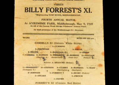 Camsell XI v Forrest XI 09.05.1945
