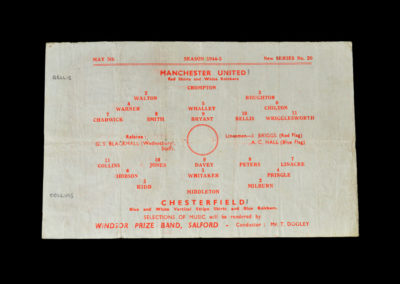 Man Utd v Chesterfield 05.05.1945 (FL North Cup Semi Final 1st Round)
