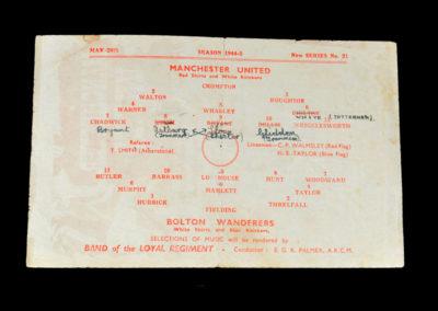 North Cup Final - Man Utd v Bolton 26.05.1945