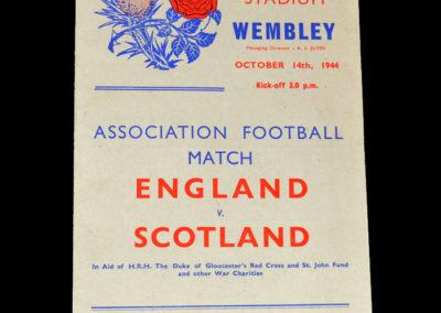 England v Scotland 14.10.1944 6-2