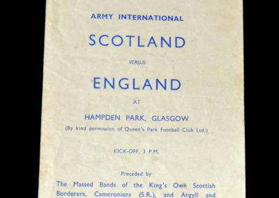Scotland v England 28.10.1944 - Army International 1-2