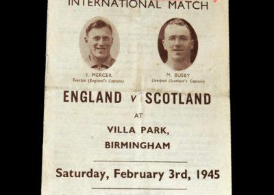 England v Scotland 03.02.1945 3-2