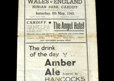 Wales v England 05.05.1945 2-3