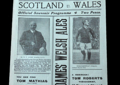 Wales v Scotland 04.02.1922