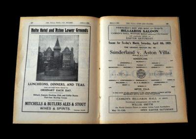 Aston Villa v Sunderland 04.04.1925 | Junior England Trial 06.04.1925