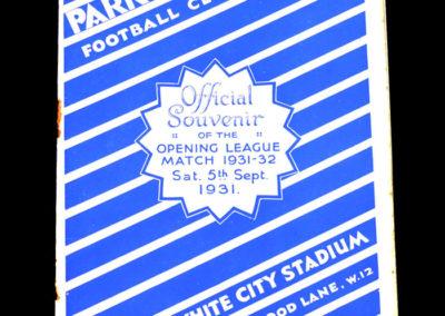 QPR v Bournemouth 05.09.1931 (1st at White City)