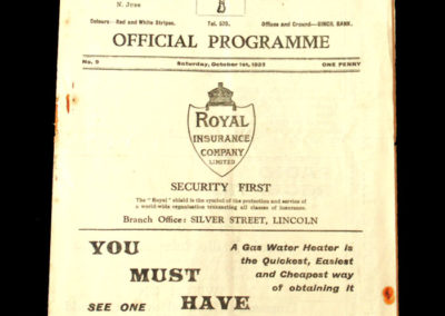 Lincoln v Grimsby 01.10.1932