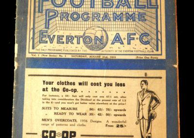 Everton v Derby 31.08.1935