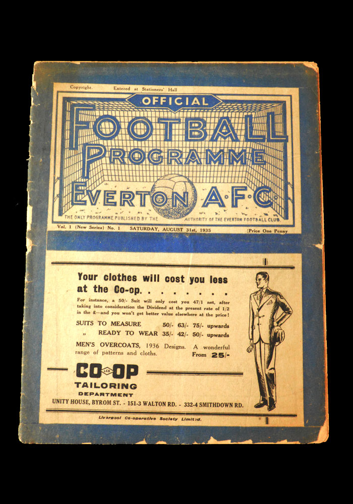 The Programmes – 1935/36 - 10 Footballs