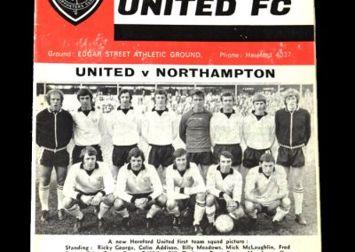 Hereford v Northampton 11.12.1971 0-0 Draw - 2nd round and a league team at home
