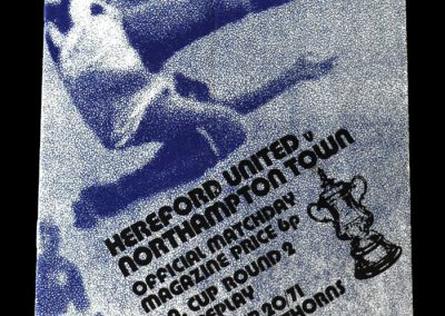 Hereford v Northampton 20.12.1971 - 2nd Replay at the Hawthorns 2-1 after injury time equaliser and extra time winner