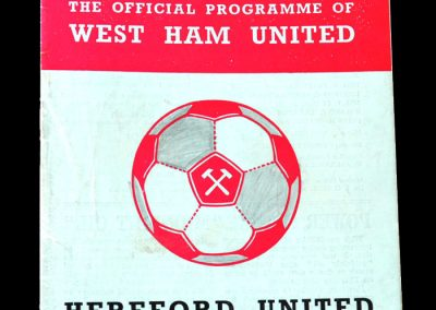 Hereford v West Ham - 4th Round Replay 09.02.1972 3-1 Loss - Over 42,000 present including 15,000 or so from Hereford see the dream end as the World Cup winner Geoff Hurst gets another hat trick, but there was still time for a consolation goal from Billy Meadows