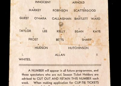 Barnsley Preseason Trial 12.08.1950 - played on the wing