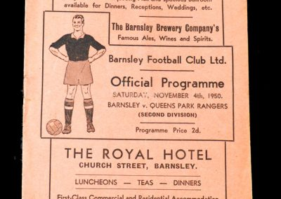 Barnsley v QPR 04.11.1950 hat trick for the 1st team in only his second game