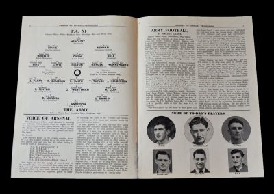 FA 11 v The Army 07.11.1951 - Conscription but plenty of football in the Army team.