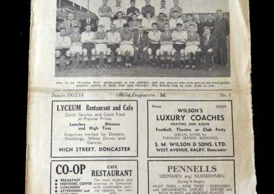 Doncaster v Barnsley - 23.08.1952 - Starts 52/53 season in the 1st team at Barnsley