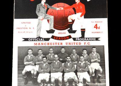 Man Utd v Preston 07.03.1953 - Scores 2 on his Debut after £29,999 transfer