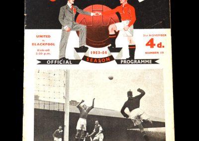 Man Utd v Blackpool 21.11.1953 - 1st hat trick for United