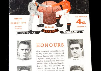 Man Utd v Cardiff 09.10.1954 - 4 goals in a 5-2 win