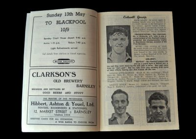 Barnsley v All Stars 26.04.1956 - a trip home with other Barnsley ex-stars including Mark Jones and Danny Blanchflower