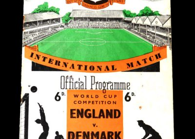 England v Denmark 05.12.1956 - world cup qualifier an scores a hat trick in a 5-2 win.