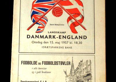 Denmark v England 15.05.1957 - Scores 2 in a 4-1 win.