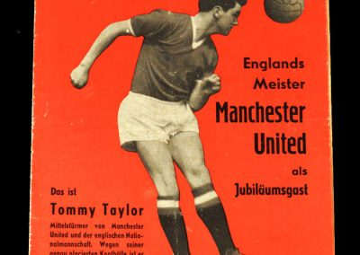 14.08.1957 - features on the preseason trip to Germany before the ill fated 57/58 season began.