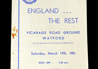 England v The Rest 17.03.1951 - Trial Match