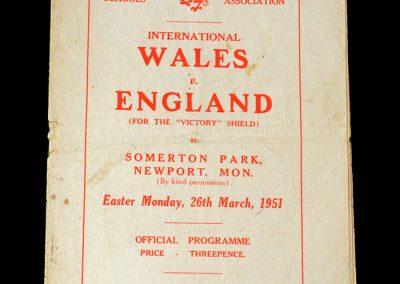 Wales v England 26.03.1951