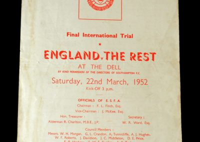 England v The Rest 22.03.1952