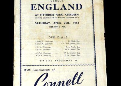 Scotland v England 26.04.1952