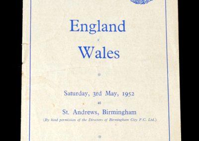 England v Wales 03.05.1952