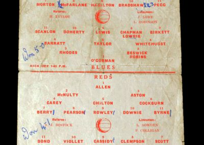 Reds v Blues 16.08.1952 - Signs for Man Utd straight from school and plays in the preseason public practice match