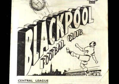 Blackpool v Man Utd Reserves 26.12.1952