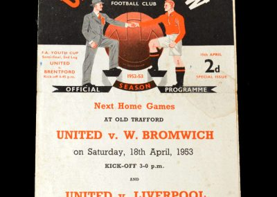 Man Utd v Brentford 15.04.1953 - FA Youth Cup Semi Final
