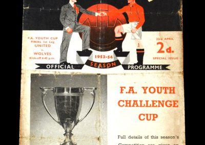 Man Utd v Wolves 23.04.1954 - Youth Cup Final first leg