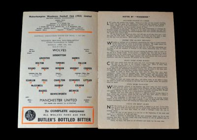Wolves v Man Utd 26.04.1954 - Youth Cup Final second leg