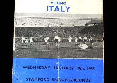 England v Italy 19.01.1955 under23s
