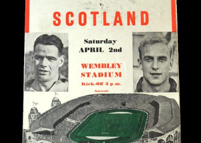England v Scotland 02.04.1955 - makes his england debut as the youngest ever alongside stan matthews whose own debut was 3 years before he was born