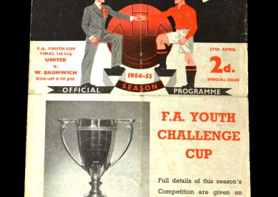 Man Utd v West Brom 27.04.1955 - Youth Cup Final